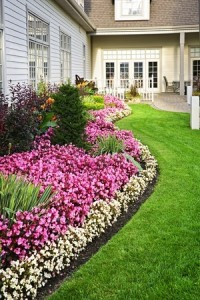 Landscaping flower beds lawn care